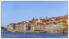 Porto3 (1 sur 1) (Mireille L) Tags: ciel eau architecture portugal couleurs fenetres