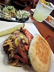 photo - La Penca Burger, La Penca Azul (Jassy-50) Tags: photo alameda california lapencaazul mexican restaurant lapencaburger burger hamburger food meal margarita salad cheeseburger baconcheeseburger