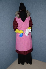 Slave Maid (Warm Clothes Fetish) Tags: slave chaerwomen maid sweat torture girl niqab hijab hot warm rain boots hat