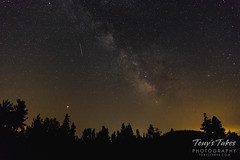 August 1, 2018 - The Milky Way, Mars and satellites. (Tony's Takes)