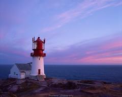 Lighthouse at summer midnight (Steinskog) Tags: analog fujifilm velvia50 velvia mediumformat 120mm pentax pentax67ii summer lighthouse lindesnes norway