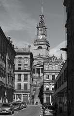 Church of All Saints, Newcastle upon Tyne, UK (Ministry) Tags: allsaints church newcastle upon tyne uk allhallows spire steeple kingstreet quayside elliptical baroque clock tower steps street