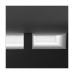 Lluerna II / Skylight II. (ximo rosell) Tags: ximorosell bn blancoynegro bw buildings squares spain arquitectura architecture abstract abstracció llum luz light minimal museu