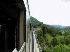 Vue depuis le train de l'ACPR (ChristopherSNCF56) Tags: acpr toulouse train vue paysage cantal aurillac lelioran auvergne montagne historique voitures corail dev inox
