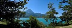 Serreponçon (Faapuroa) Tags: ✔ france2018 montagne nature paysages ain lake water barrage forest alpes nikon coolpix p900