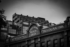 Everything Photographic (wrachele) Tags: canada alberta edmonton city building old bw black white