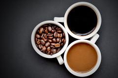 DSC_3371 (SueHana) Tags: coffee coffeebean stilllife cafe blackbackground drinks