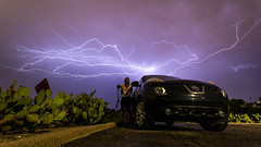 The Greatest Show on Earth (Amazing Aperture Photography) Tags: nature violent bright vibrant storm lightening bolt lighteningbolt flash electric electricity monsoon rain clouds sky tucson arizona southwest stormchaser car vehicle wideangle longexposure thunder show sony sonya6000 purple