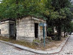 À la croisée des chemins (Jean S..) Tags: cemetery street graves corner trees stone old ancient