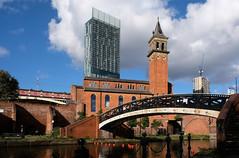 Iron bridge1 ( Manchester ) (scarbrog) Tags: cityscape manchester canal bridge ironbridge pedestrian