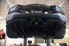 Aggressive Rear End (Infinity & Beyond Photography) Tags: lamborghini aventador exotic sports car supercar black jacked rear