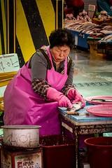 at the fish market (alexhaeusler) Tags: working korea people street market