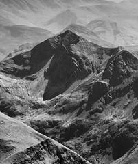 Jagged (JoshyWindsor) Tags: canonef70300mmf456l bennevis scotland canoneos5dmarkiii travel scenic jagged rugged landscape scottishhighlands holiday blackandwhite