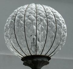 Glass globe outside The Glass Church (Monceau) Tags: glass globe outside glasschurch stmatthewschurch jersey millbrook renélalique lalique