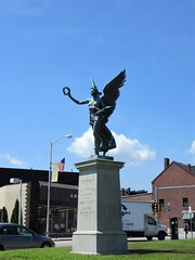 Victory statue by City Hall, Lowell, Massachusetts (Paul McClure DC) Tags: lowell massachusetts middlesexcounty july2013 newengland architecture historic sculpture monument