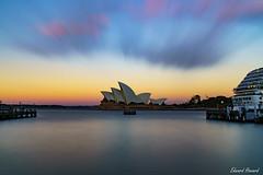 Love those sunset colours (edzwa) Tags: therocks newsouthwales australia au ndfilter nisifilters nisi sunset water sydney sydneyoperahouse longexposure