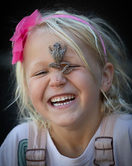Girl and tree frog (Dave_Lawrence) Tags: elle livi mc