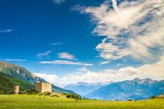 Fort de Réallon (Rien Buisman) Tags: mountains view sky clouds castle ruins blue france alpes