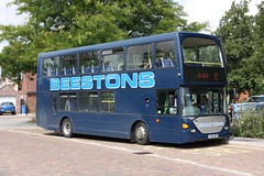 Dissemination of Information (Chris Baines) Tags: beestons scania omnidekka east lancs hadleigh bus station 91 service ipswich yn55