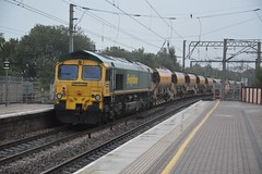 "Freightliner Class 66/5, 66553 (37190 ""Dalzell"") Tags: freightliner greenyellow gm generalmotors fred class66 class665 66553 northwestern wigan"