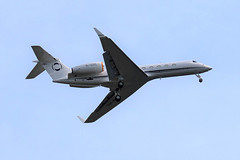 M-USIC GULFSTREAM G550 FRONT GARDEN CRAMLINGTON (toowoomba surfer) Tags: bizjet executivejet generalaviation jet aeroplane bizzjet ncl egnt