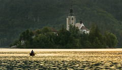 Lake Bled (Lelini) Tags: lake bled slovenia water swimming sony tamron landscape sunset boat love