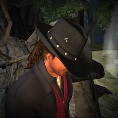 Diamond Jim Stone (darkstoneaeon2) Tags: stonesworks secondlife avatar fashion hat cowboy black leather