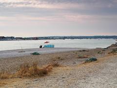 Hayling Island -E7210156 (tony.rummery) Tags: beach em10 evening fisherman fishing haylingisland mft microfourthirds omd olympus seascape shingle solent southcoast umbrella havant england unitedkingdom gb