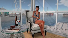 Out with the old, in with a view! (Aviaya Nox) Tags: catwa secondlife secondlifephoto sl slphotography secondlifefashion slphoto secondlifestyle secondlifephotography sllifestyle sllife secondlifeart secondlifeblogger swimwear slblog summer sunglasses virtual virtualworld virtuallife virtualblog virtualfashion sea secondlifeblog seashore ocean beach cabin hibernia marina boat sailboat sailing public rental rentals neighbor neighbors original truth change moving move
