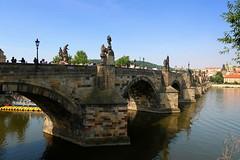 Charles Bridge. Prague, Czech Republic. (ZdenHer) Tags: charles bridge river vltava water architecture czechrepublic charlesbridge canonpowershotg7xmarkii prague praha sky