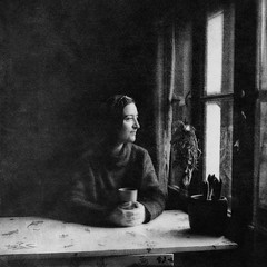 The stillness feeding the dreams (Arslan Ahmedov) Tags: black white bw square 120 woman window light bulgaria absoluteblackandwhite