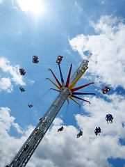 ... summer madness ... (jane64pics) Tags: bray brayseafront amusements funfair flyinghigh carousel janefriel janefriel2018 sunshine summermadness lookingup