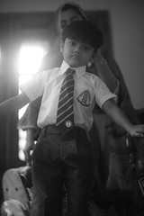 Uma Goes To School (N A Y E E M) Tags: umar kalam son portrait schooldress uniform 1stday school today morning light availablelight naturallight atmosphere staircase home rabiarahmanlane chittagong bangladesh vertical