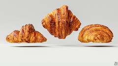Croissant 3D model (ZB-Vision) Tags: croissant 3d model brioche bakery pastry coffee morning breakfast bread cake patisserie sweet roll flaky crescent rich obj c4d fbx realistic french layered laminating puff