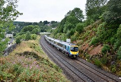 NOW Mossley Greater Manchester 12th August 2018 (loose_grip_99) Tags: mossley greater manchester lancashire northwest england uk train railway railroad rail diesel multiple unit dmu transpennine pennines now thenandnow transportation class185 lnwr trains railways august 2018