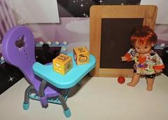 Getting Ready For Kindergarten Month (marilyntunaitis) Tags: kindergarten school paolareinadoll desk blackboard