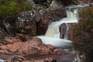Cascade over granite
