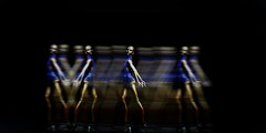 Dancing (FBJDcollector) Tags: blackdollstribalfacepaint couture glamour resin fashiondoll 16 dolls