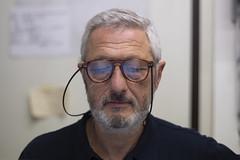 Andrea (marco monetti) Tags: portrait ritratto man uomo shopkeeper storeowner shopowner negoziante fotoprismaviadicastiglionebologna people persone glasses spectacles occhiali autorevuenon55mmf14