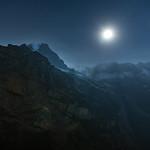 Full moon rising over the Swiss Alps thumbnail