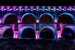 Pont du Gard (Vince Mako) Tags: pont gard pontdugard france night nuit canon canon5d canon5dmarkiv