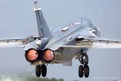 Hot Su-24 (Artyom Anikeev) Tags: avia aviation airplane artyomanikeev anikeev airforce planespotting plane aircraft spotting canon 5dmkiii su24 military afterburner sukhoi