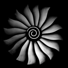 Breitling Flower (arlene sopranzetti) Tags: monochrome black white bw breitling flower oculus nyc new york fan