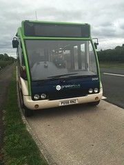 Preston bus - 20769 parked up at a lay by near great eck. Waiting it's time out due to access to Myerscough College closed. (FyldeSnapper) Tags: