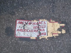 House of Hades Broken Up Style Toynbee Tile 7780 (Brechtbug) Tags: house hades toynbee tile broken up new york city plus colossus roads brakeman brush in surrealville 2018 ford art artist mosaic parts part shattered smashed jumbled black top asphalt 08152018 nyc broadway fifty first street