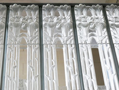 Lilies atop tall panels with open sections - Glass Church, Jersey (Monceau) Tags: lilies top glass panels open spaceglasschurch renélalique jersey millbrook anglican lalique