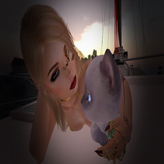 Kitten Telling Mistress Everything__ _D (Spotlighted) (Prismatic Kitten) Tags: secondlife boats dinkies tiny tinies sailing sl slsailing