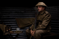 Waiting (charenty) Tags: wwi trench reenactment army rifle fighting soldier tommy