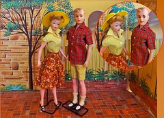 POLLY'S NEW GUY! (ModBarbieLover) Tags: clone vintage fashion doll barbie ken 1964 red yellow quiff hat polly andy toys house