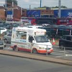 501 buses at Edgbaston for England v India - ice cream van - Mister Softee thumbnail